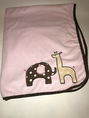 LAMBS & IVY Giraffe Collection Chevron Coral Fleece Blanket - $12.99 ...