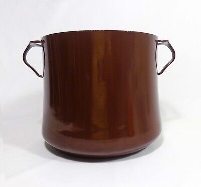 Jens Quistgaard Vint. Dansk Designs Ihq France Large Brown Enamel 8 Qt Stew Pot