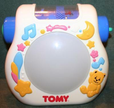 TOMY LULLABY DREAM SHOW Nursery Crib Light w/Straps Musical Baby Night Soother