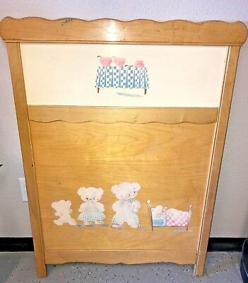 1950s Vintage Crib Three Little Bears theme ~ Honeysuckle ~ Sears Roebuck