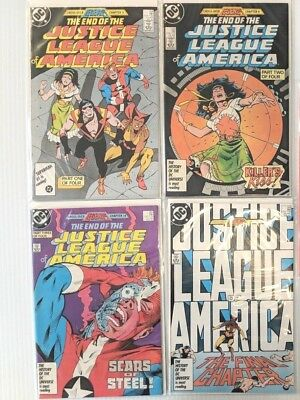 Justice League of America Set 258 259 260 261 last 4 issues Copper Age 1987 NM