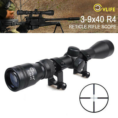 CVLIFE Rifle Scope 3-9x40 Optics R4 Reticle Crosshair Air Sniper Hunting Scopes