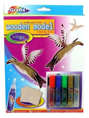 Make Your Own Wooden Model by Grafix, Humming Bird
