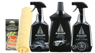 the complete car cleaning kit cleaning wash wax shine restorer bucket picclick uk. Black Bedroom Furniture Sets. Home Design Ideas