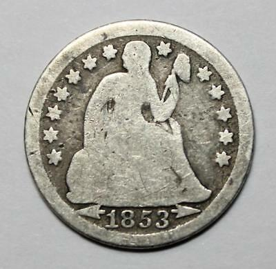 1853 - Seated Liberty Dime - Type 3 - Arrows at Date