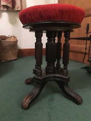 Antique Edwardian Revolving Stool