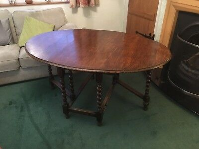 Antique Oak Gate leg  Drop Leaf Table