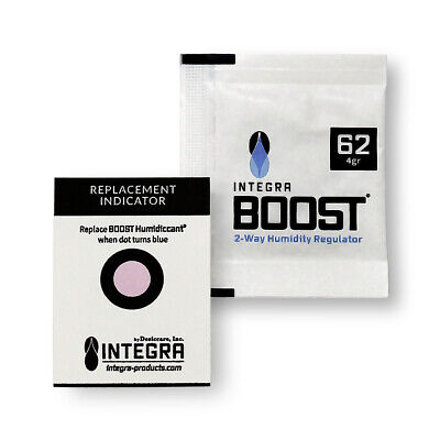 10 Pack Integra Boost RH 62% 4 gram Humidity 2 Way Control Humidor Pack