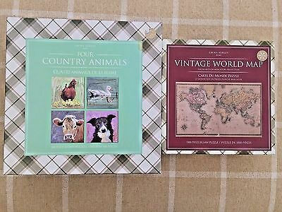 Laura ashley world map wall clock brand new 2250 picclick uk 5 new laura ashley jigsaws 4x500 county animals in 1 box a 1000 world map gumiabroncs Gallery