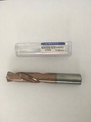 17.85 mm or 7.027 solid carbide coated stub drill garr tool edp#21235
