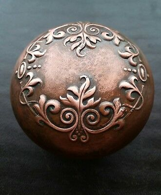 Antique Victorian Eastlake Ornate Door Knob Solid Cast Leaf Floral