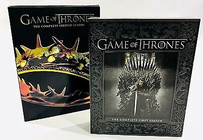 Lot 2x GAME OF THRONES 1 2 The First Season Blu-ray The second DVD Eng Fr