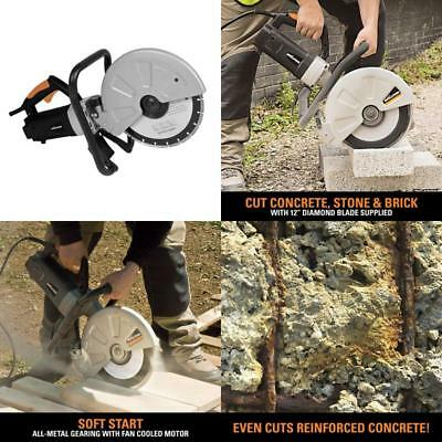 Corded 20 Amp 12 In Portable Concrete Saw Masonry Brick Stone Cutting Power Tool
