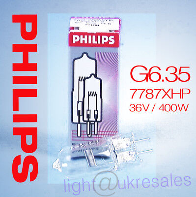 NEW Philips 7787XHP Projection Lamp, 36V/400W, G6.35, 1CT/3X8F, 8711500504586
