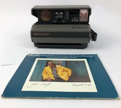 Vintage Polaroid Spectra System Auto Focus Film Instant Camera W Manual
