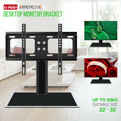 """Universal Table Top TV Pedestal Stand Base fit 22""""-32"""" for LED LCD Plasma TV"""