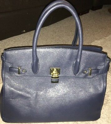 Versace Bag Blue 1969 Milano Italia RN  137646 Great Condition No Marks 2016 7f555d35200b1