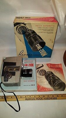 Revere CA-8 Electric Eye-Matic CINE-ZOOM 8mm Movie Camera in Original BOX