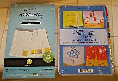 Franklin Covey Classic Notepad Note Pad & Her Point Of View Lot New Sealed