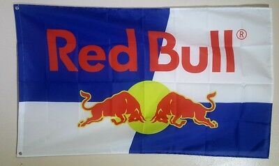 Red Bull Energy Drink Advertising Banner Flag Racing Garage Wall 3x5 Promotion