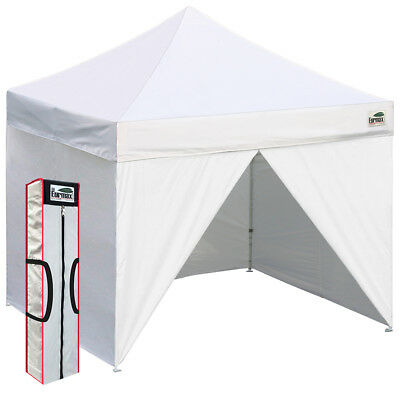 Commercial Instant Trade Show Gazebo Tent 10x10 Ez Pop Up Canopy +4 Side Walls