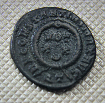 Constantine the Great Wreath VOT XX cre TICINUM Mint 322-325 AD Soldiers rev A1s