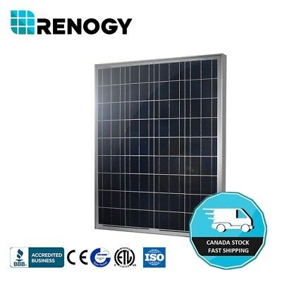 Renogy 100 Watt Poly Solar Panel 100W 12V PV Power Off Grid RV Boat Home