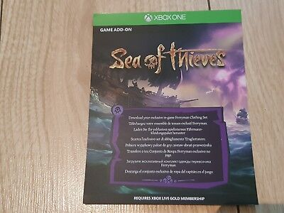 SEA OF THIEVES DLC Code For Xbox One Ferryman Clothing Set