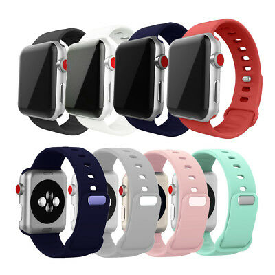 Replacement Soft Silicon Sport Watch Band for Apple Watch Strap 38/40mm 42/44mm
