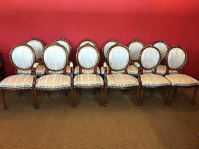 Sensational French Louis Xvi Grand Dining Chair Set Pro French Polished