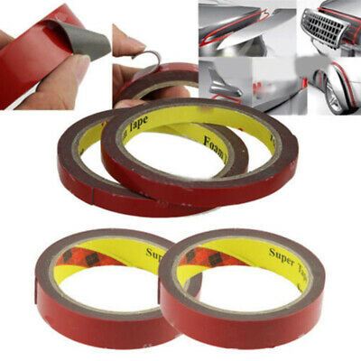 3M Double-Sided Adhesive Glue Tape Super Sticky Strong Permanent With Red Liner