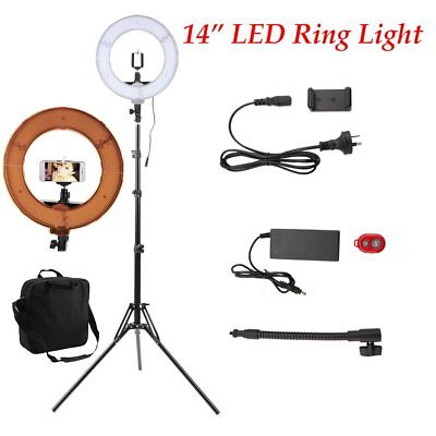 """14"""" 5500K Dimmable Diva LED Ring Light with Diffuser Stand Make Up Studio"""