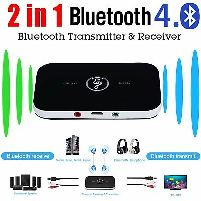 2in1 Bluetooth Transmitter & Receiver Wireless A2DP Home TV Stereo Audio FC
