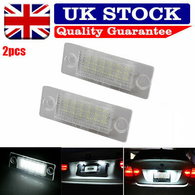 2X 18 LED License Number Plate Light Lamp For VW Touran Golf Passat Jetta Caddy
