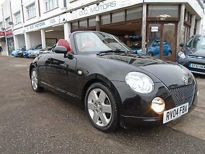 2004 Daihatsu Copen Roadster Black Red Leather