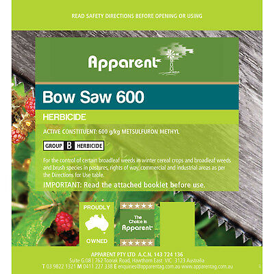Apparent Bow Saw 600 (Metsulfuron) Herbicide 500g