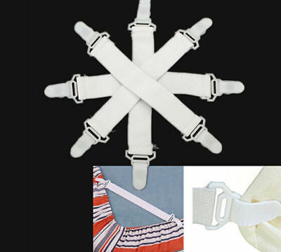 Fasteners Cloth Elastic Clip 4Pcs Belt Grippers Set Bed Sheet Cover Blankets