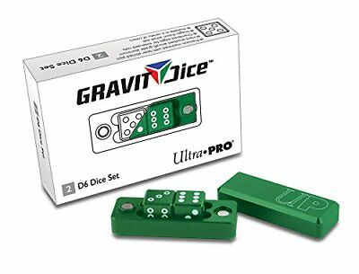 Ultra Pro D6 - 2 Dice Set Gravity Dice - Emerald