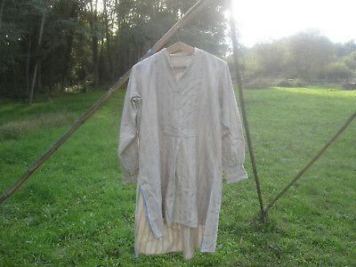 Antique french men's fine wool shirt or nightgown