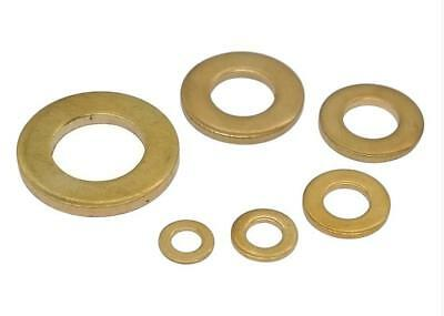 100pc M2 M2.5 M3 M4 M5 M6 M12 Brass Flat Washer Copper Plain Washer Screw Gasket