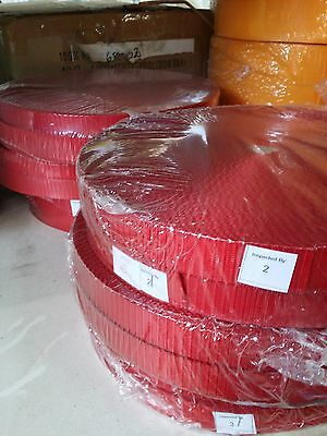 25mm, 2.5cm RED High Quality Terylene Webbing Strapping 1 - 25 Metre Lengths