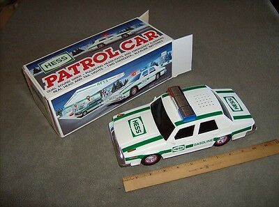 Classic collectible 1993 Hess gas stations seasonal patrol car light sounds nice