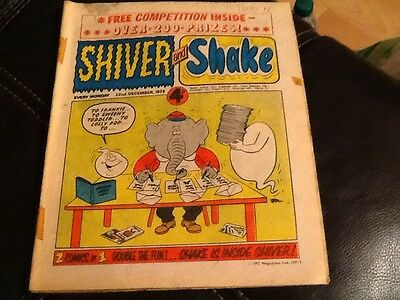 SHIVER AND SHAKE  Paper comic Dec. 1973 ISSUE No. 42  Still in great condition