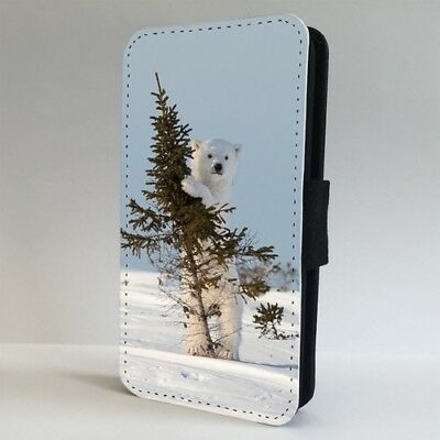Polar Bear With A Tree Cute Nature FLIP PHONE CASE COVER for IPHONE SAMSUNG
