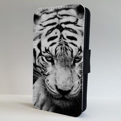 White Siberian Tiger Wildlife FLIP PHONE CASE COVER for IPHONE SAMSUNG