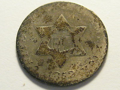 1852 Three Cent Silver Piece Rough