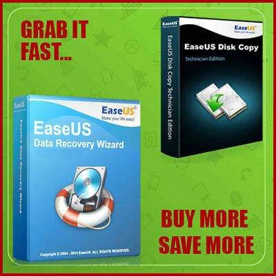 EaseUS Data Recovery Wizard Professional + Disk Copy Technician