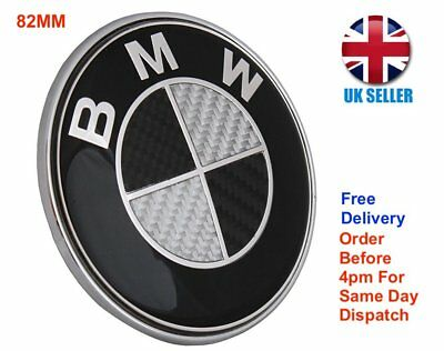78mm Carbon Fibre Bonnet Boot Badge Bmw X5 Z4 Wing Badges