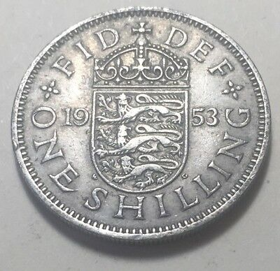 Great Britain (UK) 1953 One Shilling Coin - Queen Elizabeth II