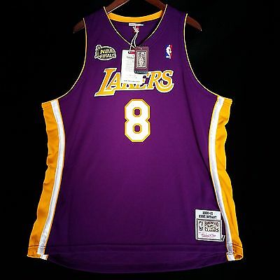 ccc443560f1e 100% Authentic Kobe Bryant Mitchell Ness 2001 Finals Lakers NBA Jersey 52  2XL